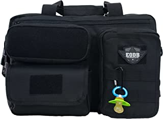 Diaper Travel Bag for Men - Elkton Outdoors Extra Durable Daddy Bag with 11 Pockets and Compartments, Molle Webbing and Sh...