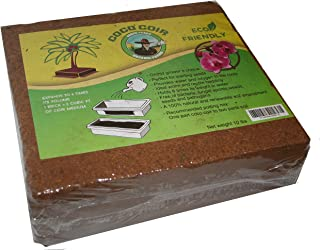 Green Texan Organic Farms Compressed Coconut Coir Brick, 11 Pound (lb) (11 Pound)