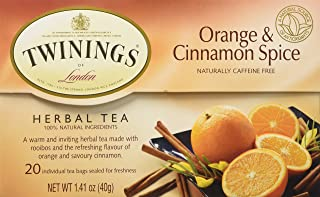 Twining's North America Inc. Tea, Og, Citrus and Cinn Spice, 20-Count (Pack of 6)