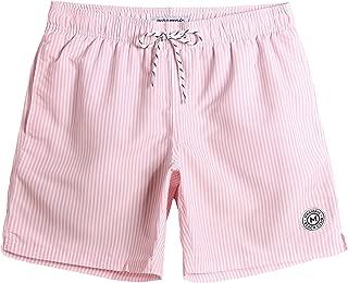 Mens Teen Short Swim Trunks Boys Quick Dry Beach Broad Shorts Swim Suit with Mesh Lining