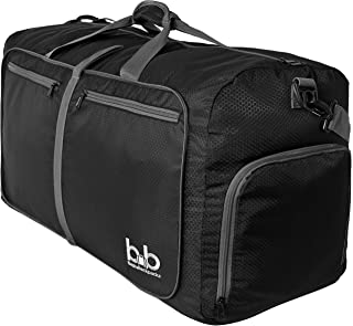 Extra Large Duffle Bag 100L - Packable Travel Duffel Bag for Women Men - Lightweight Luggage Bag (Black)