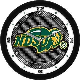 SunTime North Dakota State Bison - Carbon Fiber Textured Wall Clock