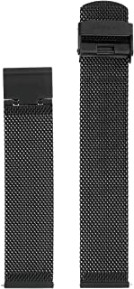 Skagen Men's 20mm Stainless Steel Mesh Watch Strap, Color: Black (Model: SKB6063)