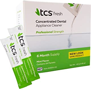 TCS Concentrated Cleaner - 6 Months Supply for Flexible Dentures, Retainers & all other Dental Appliances