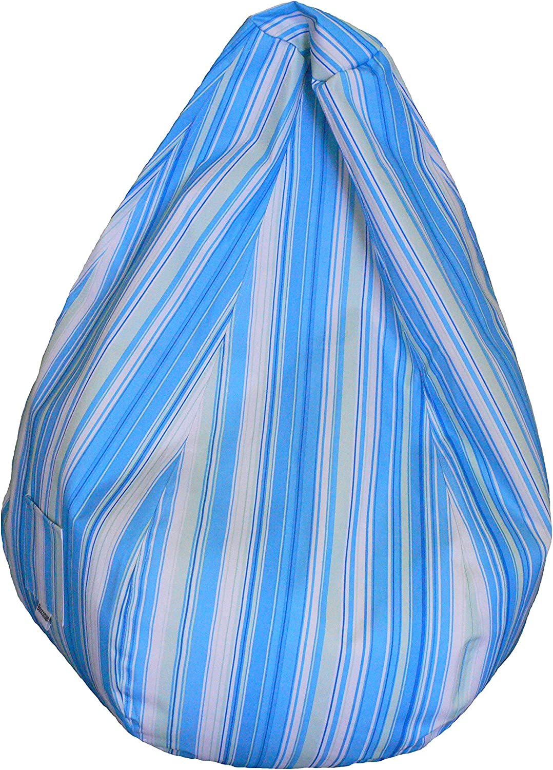 Boscoman - Large Pearshape Striped Beanbag Chair - bluee   Green (BOX M)