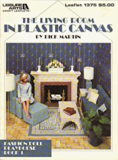 The living room in plastic canvas (Fashion doll playhouse)