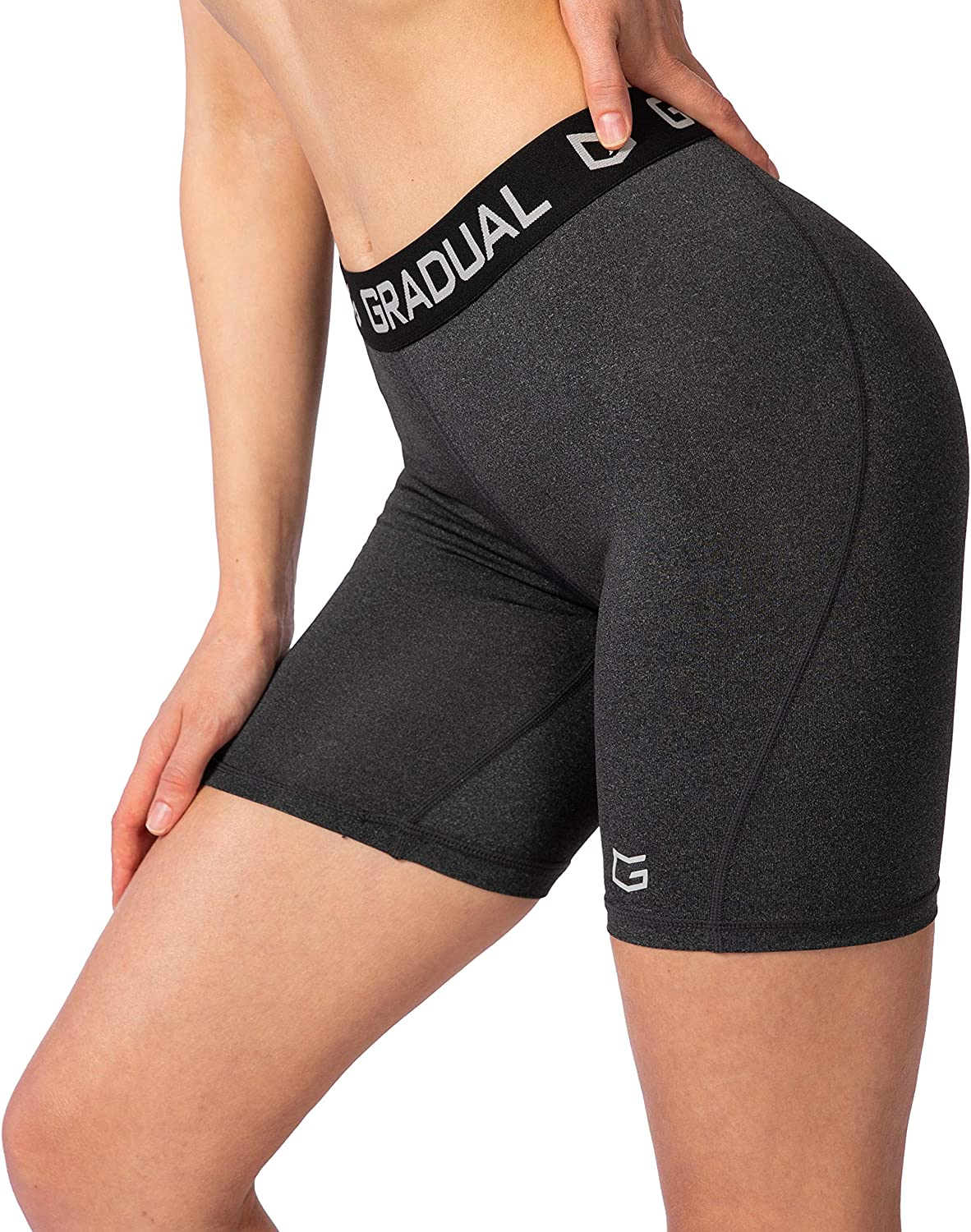 Womens Spandex Compression Volleyball Shorts 3 //7 Workout Pro Shorts for Women