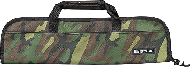 Messermeister 5-Pocket Heavy Duty Nylon Padded Knife Roll, Luggage Grade and Water Resistant, Camouflage