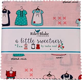 Seaside 5 Fabric Squares Charm Pack by Tasha Noel for Riley Blake 42 Pieces