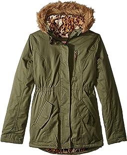 Cotton Twill Jacket W/Fur Trim (Little Kids/Big Kids)