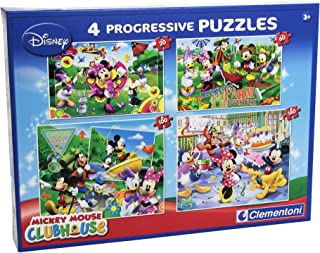 Clementoni – 77045 – Puzzle – Mickey Mouse Club House, 20 + 60 + 100 + 180 pièces