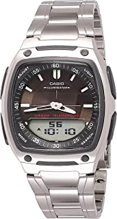 Casio Watch For Men - Analog-Digital Metal Band - Aw-81D-1Av, Silver Band