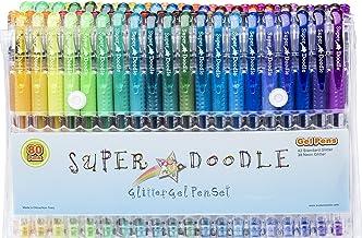 Super Doodle Glitter Gel Pens - 80 Unique Glitter Colors - Artist Quality Gel Pen Set for Adult Coloring Books, Arts and C...