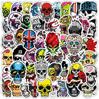 Gothic Skull Stickers Decals 50pcs Punk Stickers Bomb for Laptop Water Bottle Sugar Skull Stickers Mexican Day of Dead Wat...