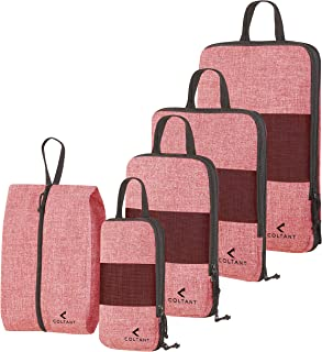 5 Pack red Packing Cubes