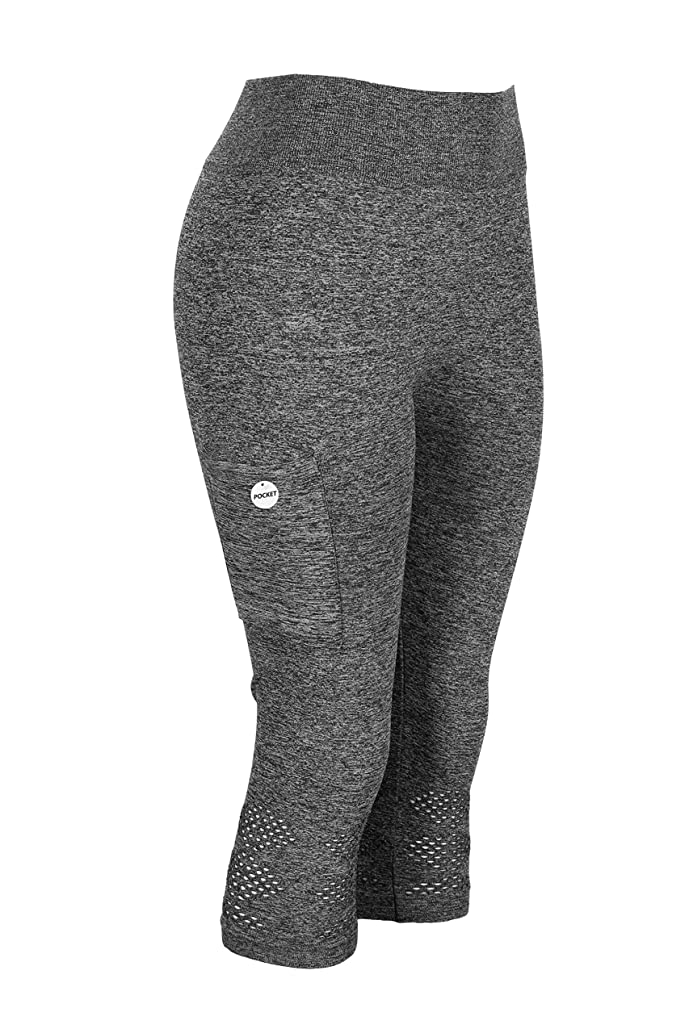 Crush Women's Seamless Cutout Capri with Pocket