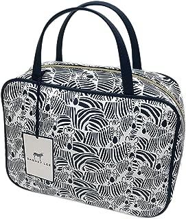 Dabney Lee Zebra Print Weekender Organizing Travel Cosmetic Makeup Bag