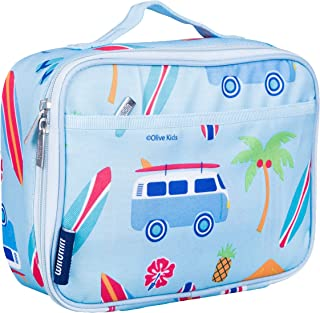 Wildkin 33800 Lunch Box, Insulated, Moisture Resistant, Easy to Clean with Extras for Quick, Simple Organization, Ages 3+, Olive Kids Design, Surf Shack, One Size