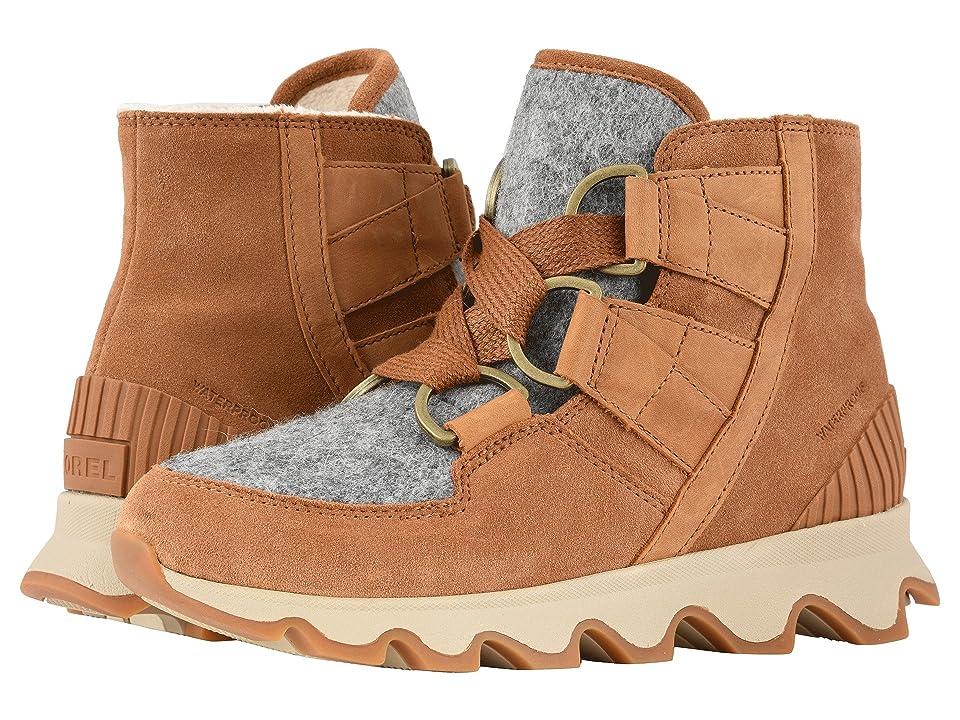 SOREL Kinetictm Short Lace (Camel Brown/Natural Full Grain Leather/Suede/Felt Combo) Women