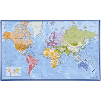 Cartina Mondo Tiger.Viquel Tappetino Poggiamani Per Scrivania Per Bambini Mondo In Inglese Amazon It Cancelleria E Prodotti Per Ufficio