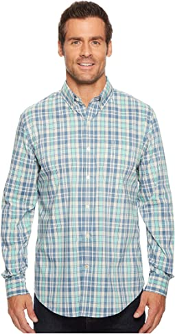 Long Sleeve Stretch Woven Shirt