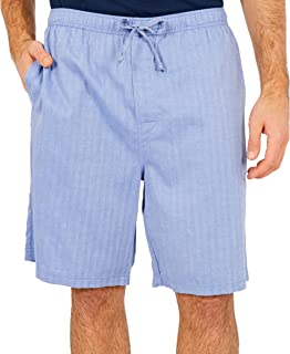 Nautica Men's Soft Woven 100% Cotton Elastic Waistband Sleep Pajama Short