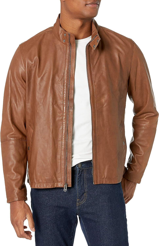 Cole Haan Men's Burnished Lamb Leather Jacket