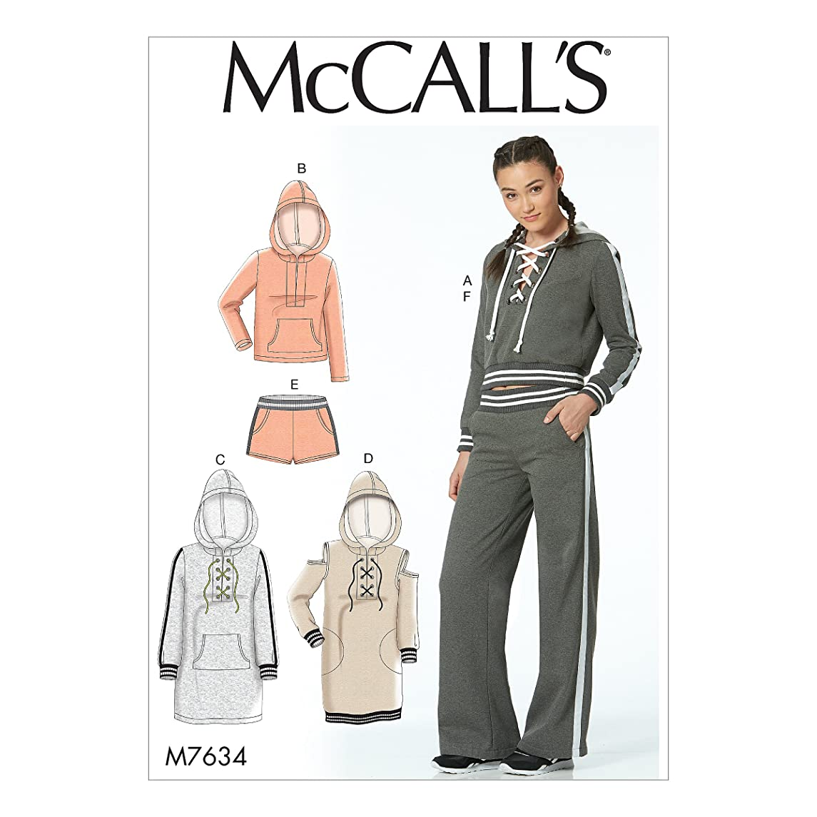 McCall Patterns M7634AX5 Misses Knit Tops/Dresses/Shorts and Pants