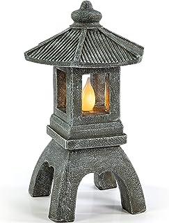 VP Home Tranquil Pagoda Solar Powered Flickering LED Outdoor Decor Garden Light