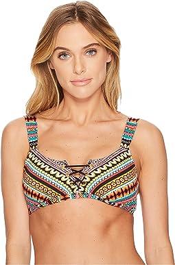 Jantzen - Geo Multi Stripe OTS Bikini Top