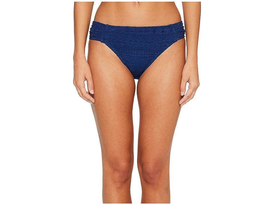Bleu Rod Beattie Crochet Ole Side Tab Hipster Bikini Bottom (Navy) Women