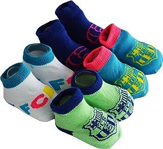 Regalo bebé – 4 pares de calcetines Barca – Colección oficial FC Barcelona – Talla bebé niño