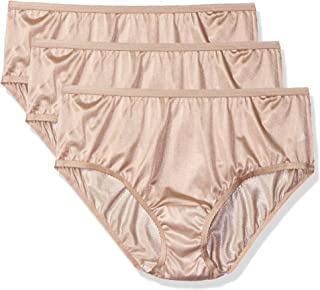 Shadowline Women's Plus Size Panties-Nylon Hipster (3 Pack)