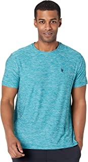 Men's Short Sleeve Poly Crew Neck Solid T-Shirt