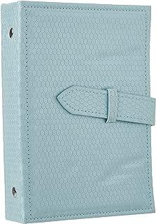 Heroine & you Creative Stud Earrings Storage Jewelry Storage Box Portable Leather Earrings (Blue)
