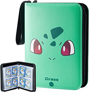 Carrying Card Binder Compatible with Pokemon Card, 50 Premium 8-Pocket Pages Sleeves Fit for TCG Baseball Football Cards, ...