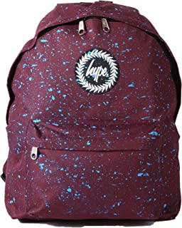 Hype Burgundy With Blue Speckle Backpack