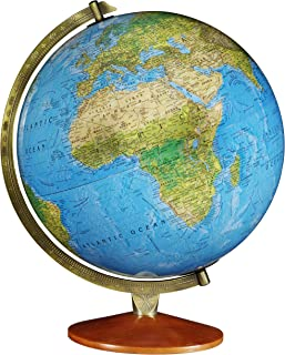 "Replogle اودسا - نقشه دو طرفه اقیانوس آبی ، جهان جهانی روشن ، امداد برجسته ، نقشه برداری به روز ، ساخته شده در ایالات متحده آمریکا (قطر 12 ""/ 30 سانتی متر)"