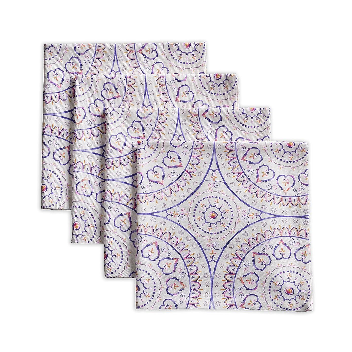 Maison d' Hermine Mandala 100% Cotton Set of 4 Napkins 20 Inch by 20 Inch