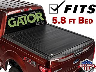 2008-2013 Chevy Silverado GMC Sierra 5.8 FT. Bed GATOR Recoil Retractable Tonneau Truck Bed Cover ( G30421 ) (Matte) Made in the USA