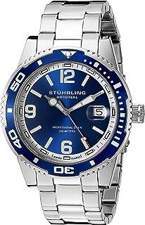 Stuhrling Original Men's 415.02 Aquadiver Regatta Analog Display Swiss Quartz Silver Watch