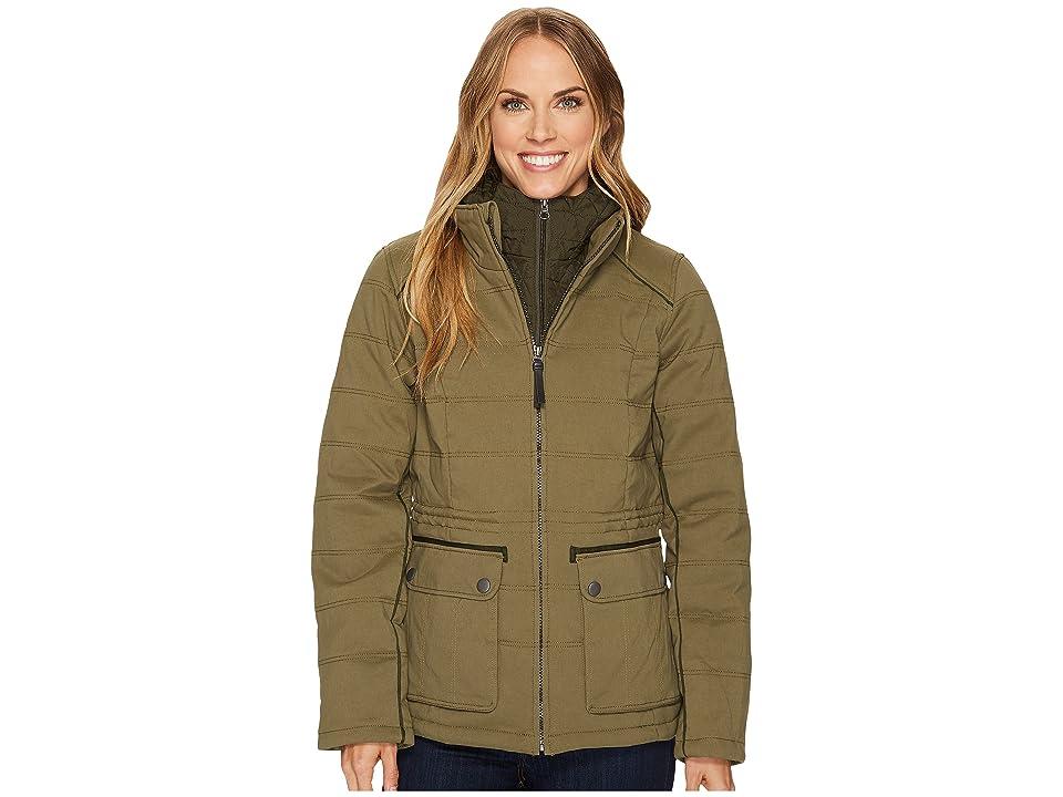 Prana Halle Insulated Jacket (Cargo Green) Women