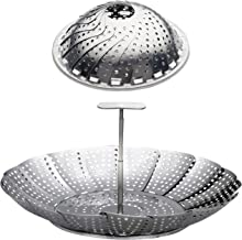 """Stainless Steel Vegetable Steamer Basket/Insert for Pots, Pans & Pressure Cookers (6.4"""" to 10.4"""")"""