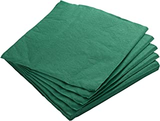 Exquisite 300 Pack of Beverage Paper Napkins The 2 Ply Party Napkins are Highly Absorbent and Available in a Wide Range of Vibrant Colors - Dark Green Napkins