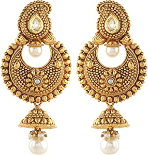 Royal Bling Bollywood Style Party Wear Traditional Indian Jewelry Jhumki Jhumka Earrings for Women