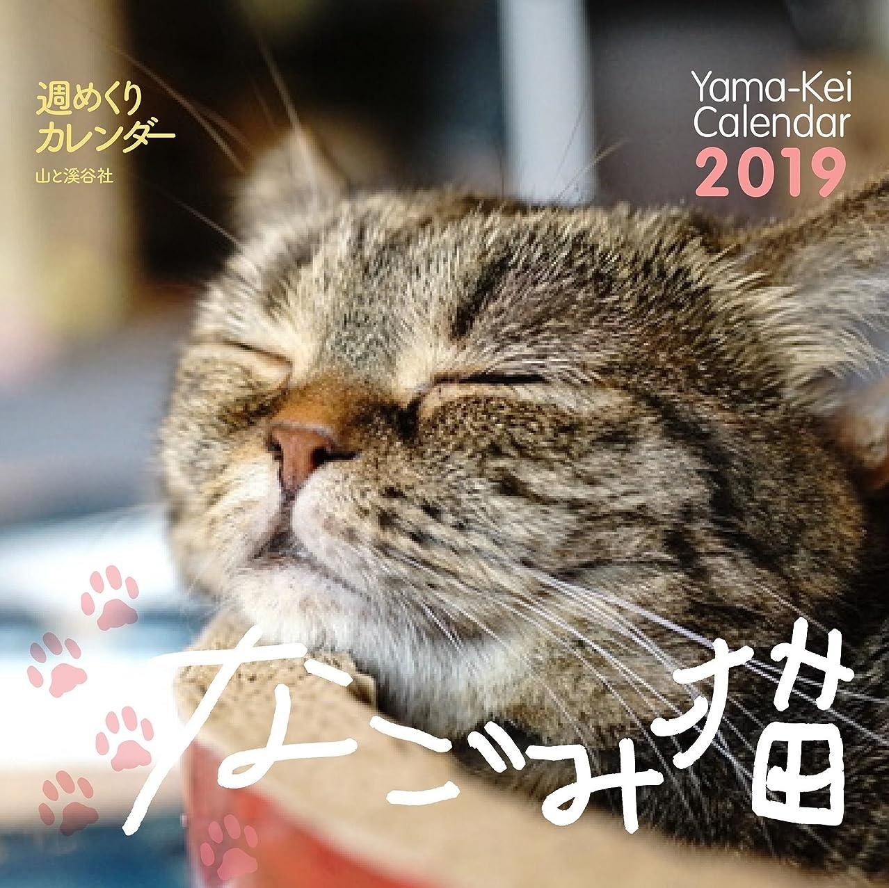 最悪安らぎ効能あるカレンダー2019 週めくりカレンダー なごみ猫 (ヤマケイカレンダー2019)