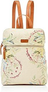 Desigual Womens Fabric Backpack MEDIUM, White