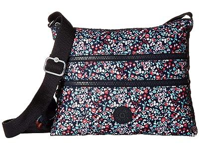 Kipling Alvar Crossbody Bag (Glistening Poppy Blue) Cross Body Handbags