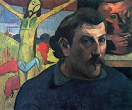 Home Comforts Gauguin, Paul - Self -Portrait with Yellow Christ Vivid Imagery Laminated Poster Print 24 x 36