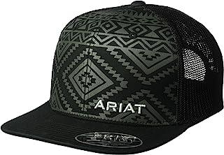 ARIAT Men's Aztec Black Flat Bill Cap